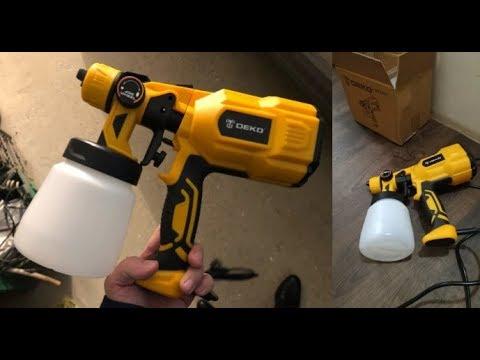 Download 7 Электрический краскопульт с Алиэкспресс AliExpress Electric spray gun Крутые инструменты из Китая