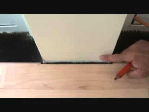 Installing A Laminate Hardwood Floor How To Cut Around A Wall
