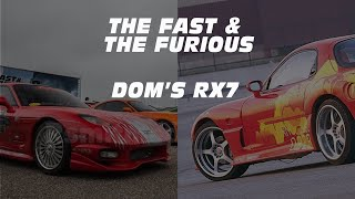 Dom's RX7: Specs, Performance and the backstory.