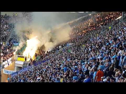 15.10.2017 FC Augsburg II - 1860 München 3:2 Ultra Ultras Stimmung Support Pyro Pyrotechnik