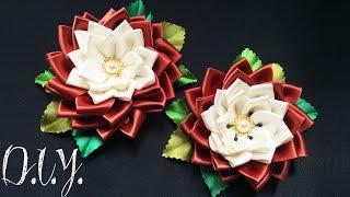 Flor Kanzashi por MyInDulzens – Handmade Flower Craft