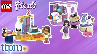 LEGO Friends Emma's Deluxe Bedroom and Andrea's Bedroom from LEGO