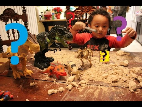 dinosaur toy fossil dig and marvels surprice mystery super hero? by Young & Playful