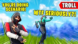 Trolling Fortnite Players With *FREE Scenario* Glitch...