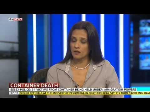 Saira Grant, JCWI, Tilbury Docks, Trafficked Immigrants, Sky News
