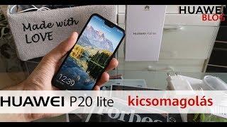 Huawei P20 Lite kicsomagoló videó