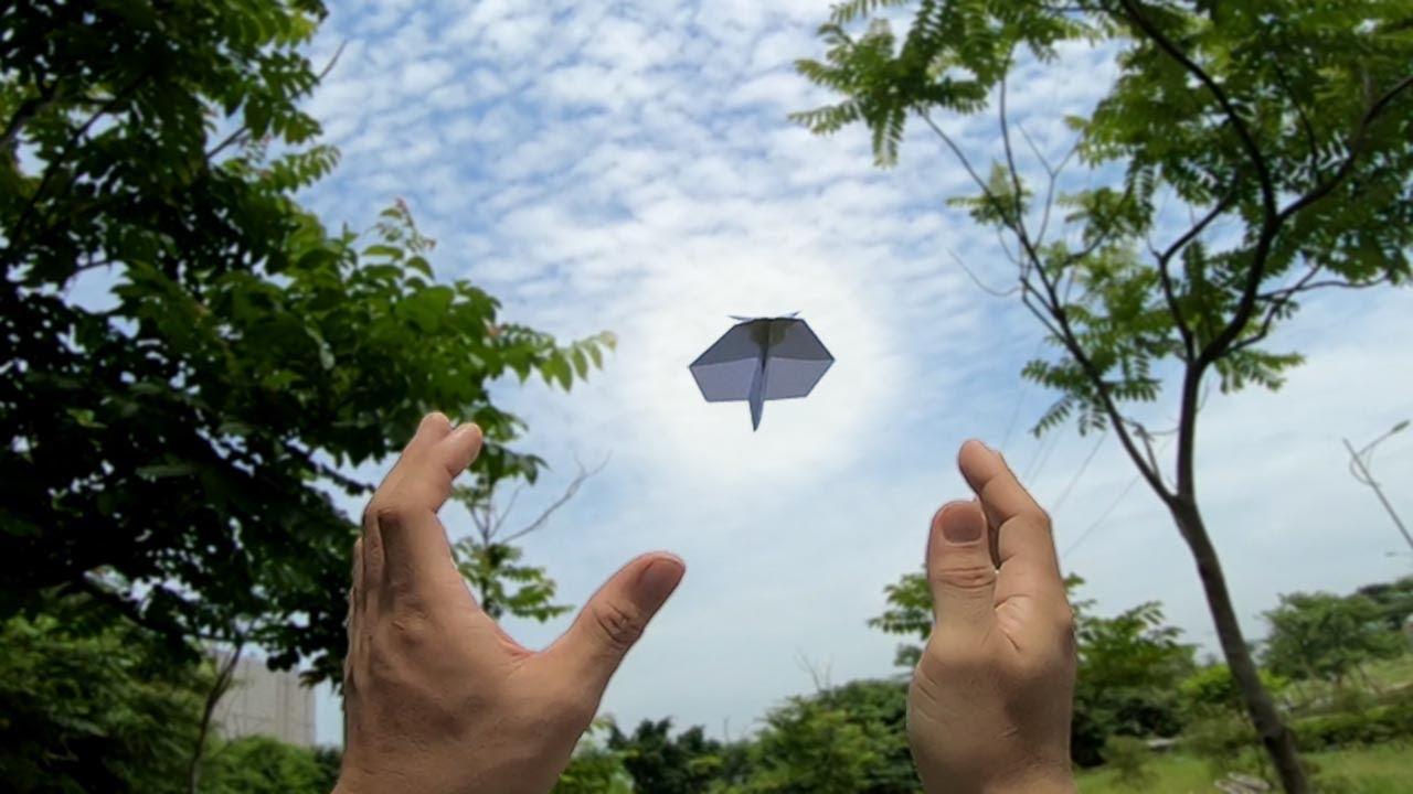아주 쉬운 부메랑 비행기 접는방법 ver 24 | ブーメラン紙飛行機を折り返す方法