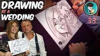 Drawing At a Wedding Super Fast Hilarious Caricatures of guests by professional Caricaturist 33