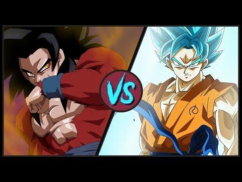 Super Saiyan 4 VS Super Saiyan Blue (Dragon Ball Super vs Dragon Ball GT)