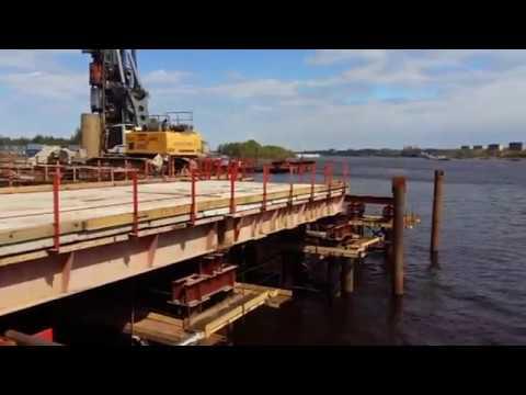 Мост через Волгу в Дубне 17 05 2017г