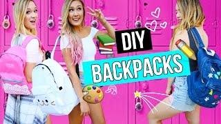 DIY Backpacks for Back to School 2016!   LaurDIY