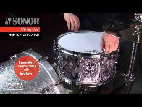 Tuning examples del rullante Sonor SSD 12 1407 MD - Mikkey Dee (MOTORHEAD)