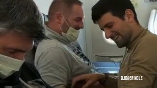 Novak Djokovic Pranks his coach in Airplane - 2020 (HD)
