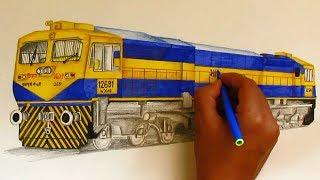 WDG4D Dual cab GT46MAC locomotive sketching