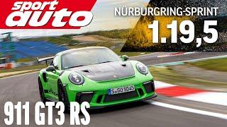 Porsche GT3 RS 991.2   Hot Lap Nürburgring Sprintstrecke   sport auto