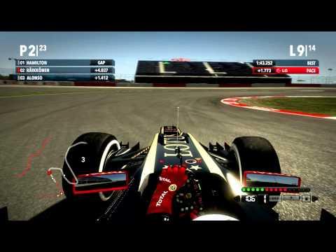 F1 2012 Kimi Raikkonen Onboard American Grand Prix Austin Texas Race Live HD Gameplay