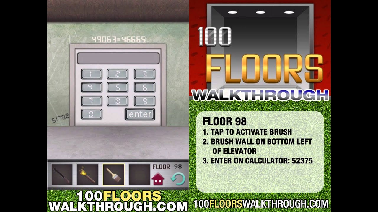 100 Floors Floor 98 Walkthrough 100 Floors App Lsungen Fr