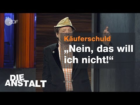 Erwin Pelzig über seinen Willen als Verbraucher - Die Anstalt vom 18.12.2018 | ZDF