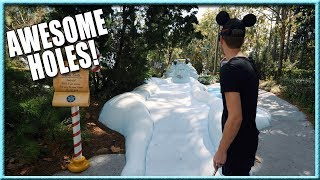 ALL THE LUCKY MINI GOLF SHOTS AND HOLE IN ONES AT DISNEY'S WINTER SUMMERLAND! | Brooks Holt