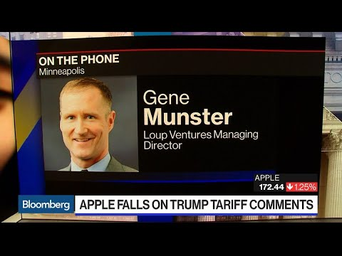 Apple Shares Contain Concern, Risk From Trade, Munster Says