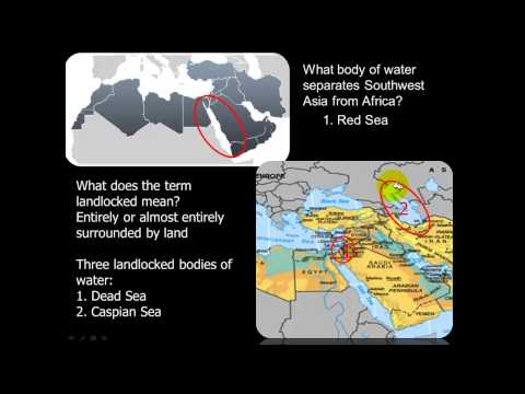 North Africa-Middle East Physical Features