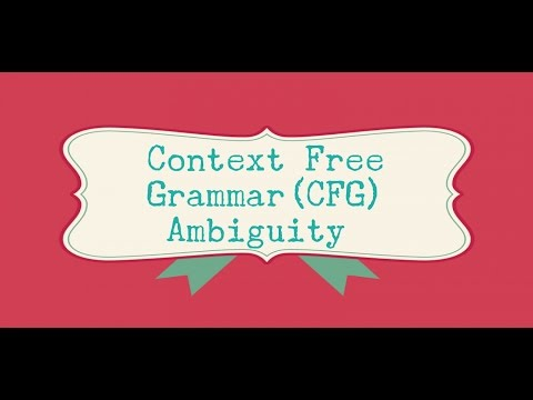 31  Context Free Grammar Ambiguity | TOC | Theory of Computation