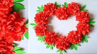 Paper Flower Wall Hanging  Easy Wall Decoration Ideas   Paper Craft   Diy Wall Decor