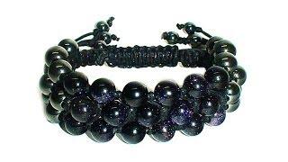 Tutorial: Triple shamballa bracelet / Тройной браслет шамбала