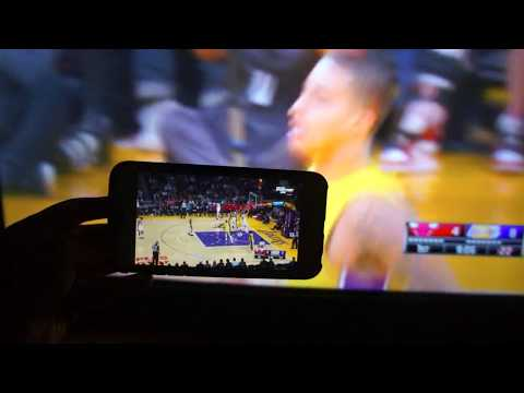 Watching A Lakers Game Live From The Spectrum TV App / Smart Phone - Test Demo - HD Quality