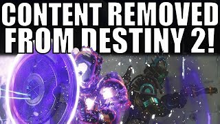 CONTENT REMOVED from Destiny 2, Placed Behind DLC!