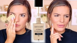 wet n wild photo focus foundation review wear test   casey holmes