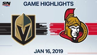 NHL Highlights | Golden Knights vs. Senators – Jan. 16, 2020