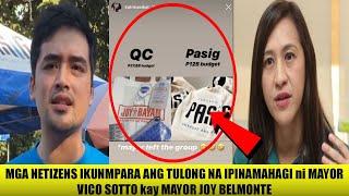 """Netizens Umalma Sa Kakarampot Na Ibinigay Ni Mayor Joy Belmonte Sa Qc!? """"gayahin Mo Si Mayor Vico!"""""""