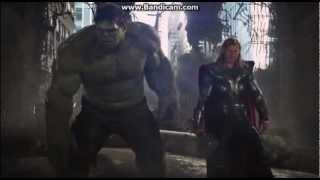 two funniest scene's in the avenger movie-hulk vs heaven god.avi