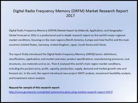 Digital Radio Frequency Memory DRFM Market Research Report 2017