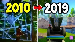 Entire HISTORY OF FORTNITE 2010 - 2019! : (Evolution of Fortnite Battle Royale) - Did You Know This?