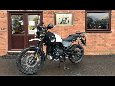 Royal Enfield Himalayan fitted with 462cc big bore kit and accessories from Hitchcocks Motorcycles