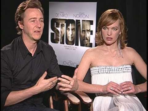 Edward Norton and Milla Jovovich Interview for STONE