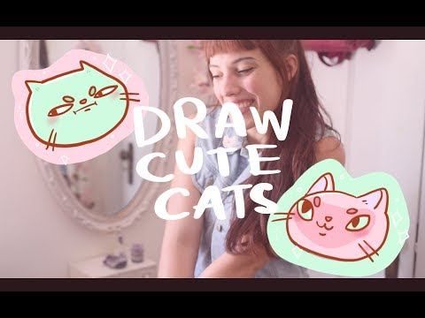 How I draw cute cats