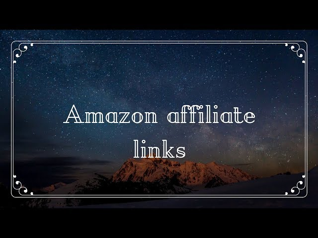 #PI 05:   How to Sign up  and generate Amazon affiliate links