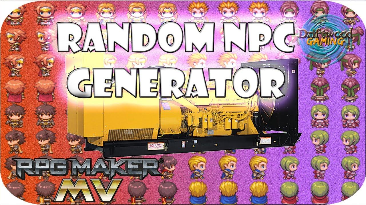 RPG Maker MV Tutorial - Random NPC Generator - This is an easy way to make  it - RPGMMV Tutorials