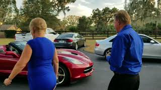 Dad's 70th Birthday Christmas Eve Surprise Corvette Gift