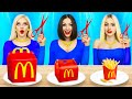 Giant vs small food crazy challenge  awkward situations with food by ratata