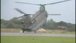 Chinook helicopter ch-47  raf hc mk2/2a display flying