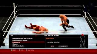 WWE 2K16 - New Moves Pack  All moves preview (Xbox 360)