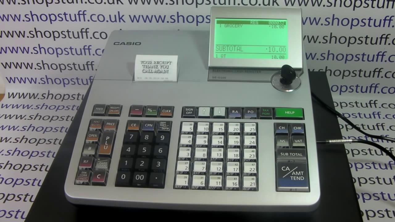 Casio Se S400 Cash Register How To Use Casio Se S400 Cash Register Youtube