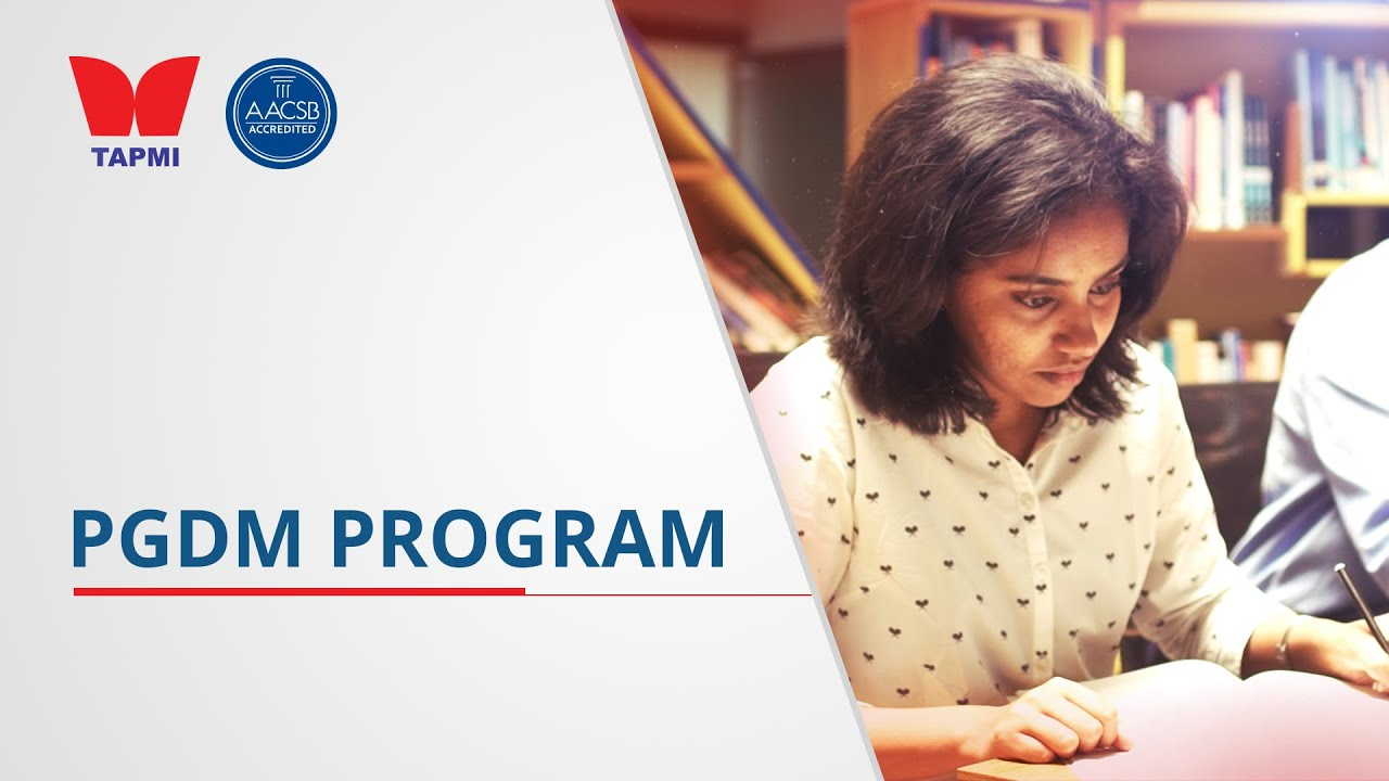TAPMI'S PGDM PROGRAM