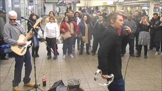 ROLLING STONES / BEE GEES /COVER BY SUBWAY BUSKERS  NYC/ LAWRENCE RUSH & UNDERGROUND HARMONY