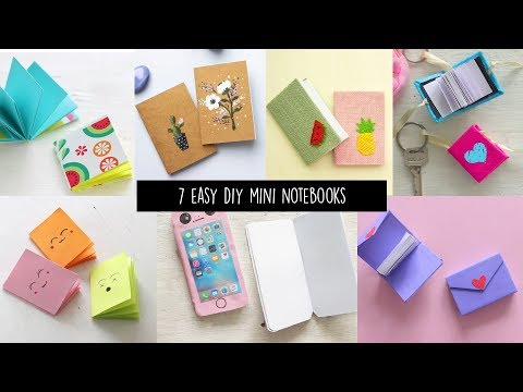 7 Easy DIY Mini Notebooks | Back to School