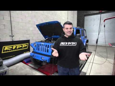 RIPP Superchargers Jeep Wrangler 3.6 Dyno Run